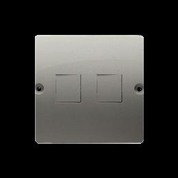 Pokrywa gniazd teleinformatycznych na Keystone płaska podwójna satynowy, metalizowany-254180