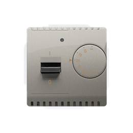 Regulator temperatury z czujnikiem wewnętrznym satynowy, metalizowany-254277