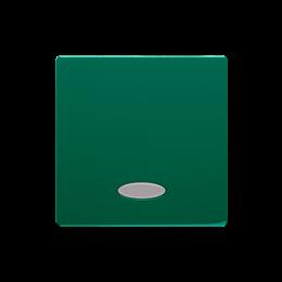 Klawisz pojedynczy z oczkiem do łączników i przycisków podświetlanych zielony-254321