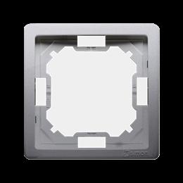 Ramka 1- krotna inox, metalizowany-253342