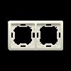 Ramka 2- krotna beżowy-253345