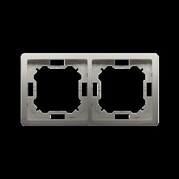 Ramka 2- krotna satynowy, metalizowany-253347