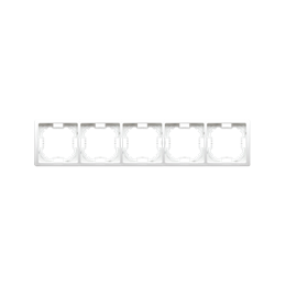 Ramka 5- krotna biały-253368