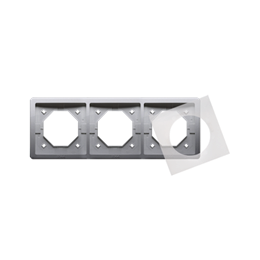 Ramka 3- krotna IP44 inox, metalizowany-253361
