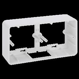 Puszka natynkowa pojedyncza składana K45 2×K45 czysta biel-255812