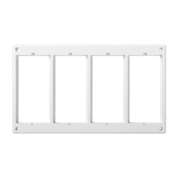 Ramka osprzętowa CIMA 4×CIMA (element zapasowy) czysta biel-255989