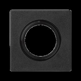 Plakietka przyłączeniowa K45 rurka O22 lub dławica O29 45×45mm szary grafit-255831