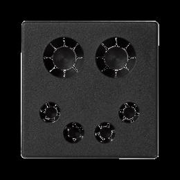 Plakietka przyłączeniowa K45 bezpośrednia 45×45mm szary grafit-255830