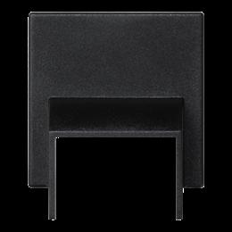 Plakietka przyłączeniowa K45 do minikanałów 20x30mm 45×45mm szary grafit-256592