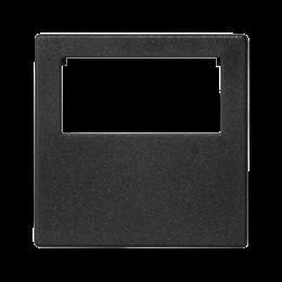 Plakietka przyłączeniowa K45 do złącza GESIS® pojedyncza 45×45mm szary grafit-255833