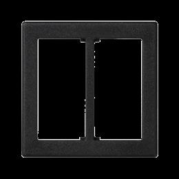 Plakietka przyłączeniowa K45 do złącza GESIS® podwójna 45×45mm szary grafit-255834