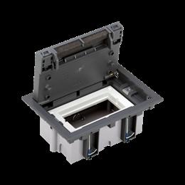 Puszka podłogowa SF prostokątna 2×K45 1×CIMA 70mm÷105mm szary IK:IK08-255908