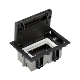Puszka podłogowa SF prostokątna 2×K45 1×CIMA 70mm÷105mm szary grafit IK:IK08-255909