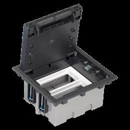 Puszka podłogowa SF prostokątna 4×K45 2×CIMA 93mm÷128mm szary grafit IK:IK08-255911
