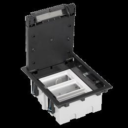 Puszka podłogowa SF prostokątna 6×K45 3×CIMA 93mm÷128mm szary grafit IK:IK08-255924