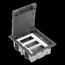 Puszka podłogowa SF prostokątna 6×K45 3×CIMA 70mm÷105mm szary IK:IK08-255925