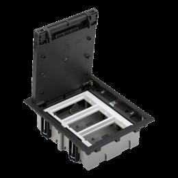 Puszka podłogowa SF prostokątna 6×K45 3×CIMA 70mm÷105mm szary grafit IK:IK08-255926