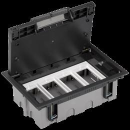Puszka podłogowa SF prostokątna 8×K45 4×CIMA 93mm÷128mm szary grafit IK:IK08-255928