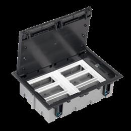 Puszka podłogowa SF prostokątna 12×K45 6×CIMA 93mm÷128mm szary grafit IK:IK08-255932