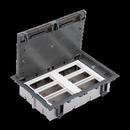 Puszka podłogowa SF prostokątna 12×K45 6×CIMA 70mm÷105mm szary IK:IK08-255933