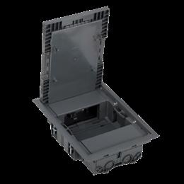 Puszka podłogowa KF prostokątna 4×K45 szary IK:IK08-255897