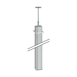 Kolumna jednostronna ALK 3m aluminium-256089