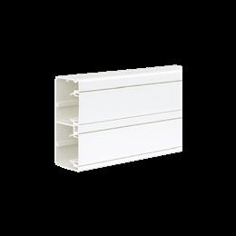 Kanał instalacyjny CABLOPLUS PVC 130×55mm Ilość komór:2 dł.:2m (cena za mb) czysta biel IK:IK07-256108