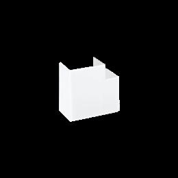 Kąt płaski CABLOPLUS 130×55mm czysta biel-256140