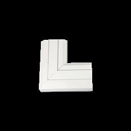 Kąt płaski do góry CABLOMAX 130×55mm czysta biel-256208