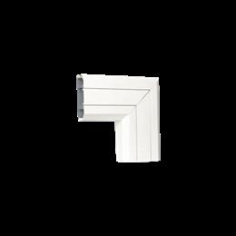 Kąt płaski do dołu CABLOMAX 130×55mm czysta biel-256209