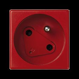 Gniazdo wtyczkowe pojedyncze K45 DATA z bolcem uziemiającym 16A 250V szybkozłącza 45×45mm czerwony-256268