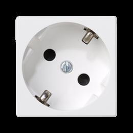 Gniazdo wtyczkowe pojedyncze K45 SCHUKO 16A 250V zaciski śrubowe 45×45mm czysta biel-256272
