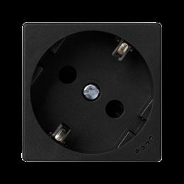 Gniazdo wtyczkowe pojedyncze K45 SCHUKO z sygnalizacją napięcia 16A 250V zaciski śrubowe 45×45mm szary grafit-256275