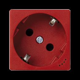 Gniazdo wtyczkowe pojedyncze K45 SCHUKO z sygnalizacją napięcia 16A 250V zaciski śrubowe 45×45mm czerwony-256276
