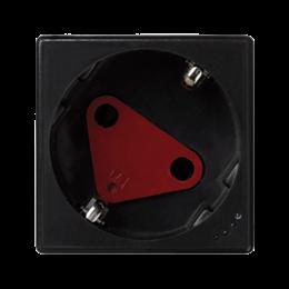 Gniazdo wtyczkowe pojedyncze K45 DATA SCHUKO z sygnalizacją napięcia 16A 250V zaciski śrubowe 45×45mm szary grafit-256279