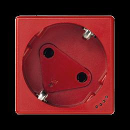 Gniazdo wtyczkowe pojedyncze K45 DATA SCHUKO z sygnalizacją napięcia 16A 250V zaciski śrubowe 45×45mm czerwony-256280