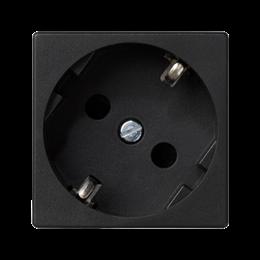 Gniazdo wtyczkowe pojedyncze K45 SCHUKO 16A 250V szybkozłącza 45×45mm szary grafit-256286