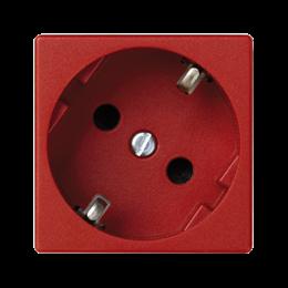 Gniazdo wtyczkowe pojedyncze K45 SCHUKO 16A 250V szybkozłącza 45×45mm czerwony-256283
