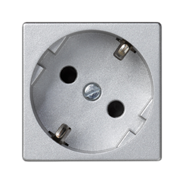 Gniazdo wtyczkowe pojedyncze K45 SCHUKO 16A 250V szybkozłącza 45×45mm aluminium-256284