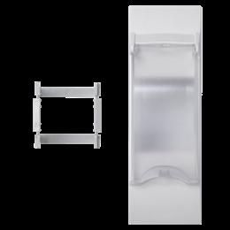 Płytka z pokrywą K45 do OFIBLOK, ALK, CABLOPLUS, CABLOMAX do aparatury 2-polowej 135×45mm czysta biel-256579