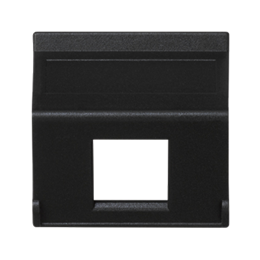 Plakietka teleinformatyczna K45 do adapterów MD pojedyncza bez osłon skośna 45×45mm szary grafit-256397