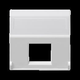 Plakietka teleinformatyczna K45 do adapterów MD pojedyncza bez osłon skośna 45×45mm czysta biel-256398