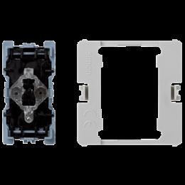 Łącznik uniwersalny (pojedynczy, schodowy) K45 z podświetleniem (mechanizm) 16AX 250V 45×22,5mm-256532