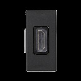 Płytka K45 adapter HDMI-HDMI 45×22,5mm szary grafit-256491