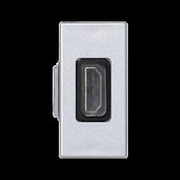 Płytka K45 adapter HDMI-HDMI 45×22,5mm aluminium-256492