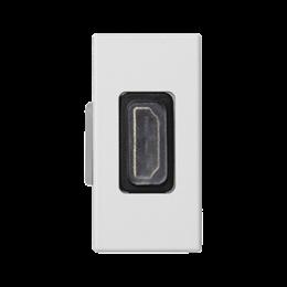 Płytka K45 adapter HDMI-HDMI 45×22,5mm czysta biel-256490