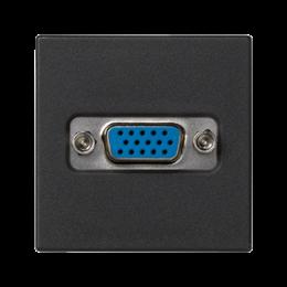 Płytka K45 złącze VGA (D-SUB 15) 45×45mm szary grafit-256494