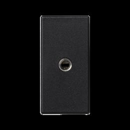 Płytka K45 gniazdo mini-jack 45×22,5mm szary grafit-256506