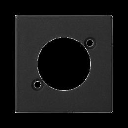 Płytka K45 pusta do złącza XLR 45×45mm szary grafit-256521