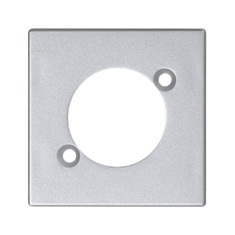 Płytka K45 pusta do złącza XLR 45×45mm aluminium-256522